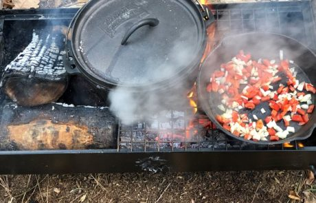 Cooking fire Children at Castle Lane Forest School
